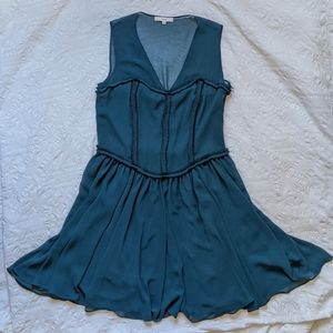 Bessini One of a Kind Teal Cocktail Dress 10